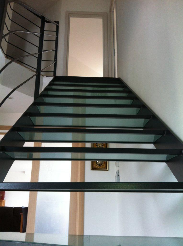 escaliers marches en verre atelier du verre cr 233 ations