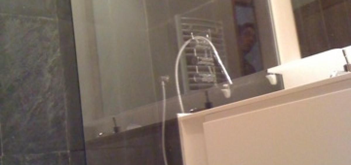 Paroi de douche en verre avec d poli atelier du verre cr ations - Paroi de douche en verre ...