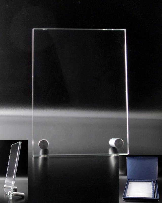 plaque en verre avec pieds aluminium atelier du verre cr ations. Black Bedroom Furniture Sets. Home Design Ideas