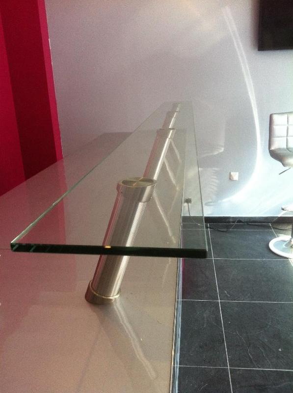 Plateau en verre snack atelier du verre cr ations - Plateau en verre pour table sur mesure ...