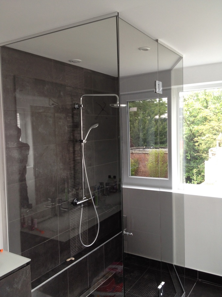 porte de douche en verre showerguard atelier du verre cr ations. Black Bedroom Furniture Sets. Home Design Ideas