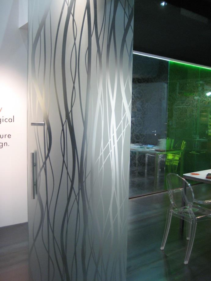 Portes en verre battantes atelier du verre cr ations - Porte de bain en verre ...