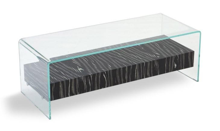 table basse bridge pont avec tiroir atelier du verre cr ations. Black Bedroom Furniture Sets. Home Design Ideas