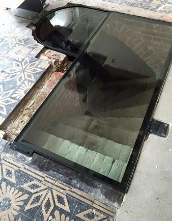 Cloisons en verre atelier du verre cr ations - Dalle de verre sol prix ...