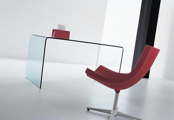 Table order atelier du verre cr ations - Bureau table en verre ...
