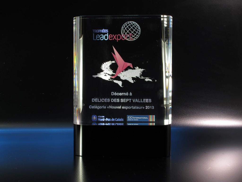 Des couleurs dans un trophée en verre pour le rendre encore plus prestigieux