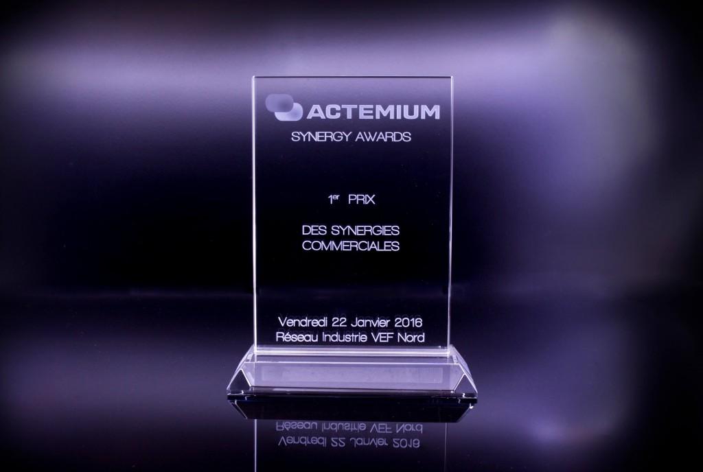 Trophée en verre Actemium