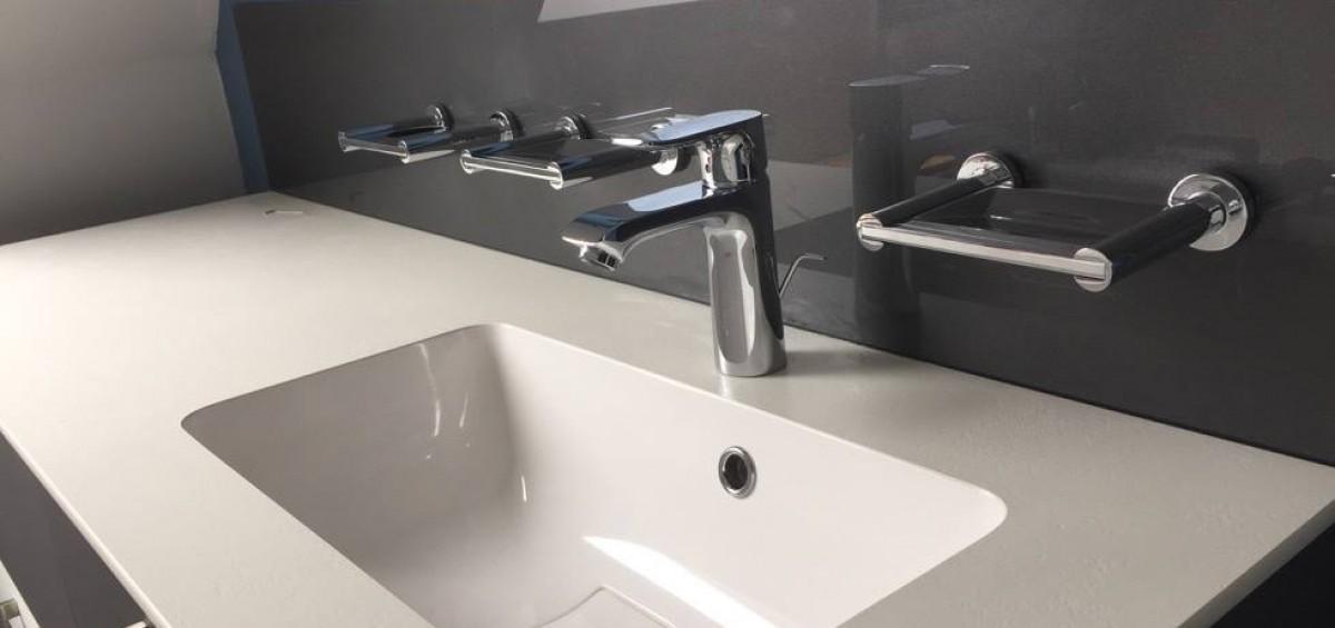 marvelous credence verre salle de bain 1 crdence en verre laqu tremp idem lacobel - Credence Verre Salle De Bain